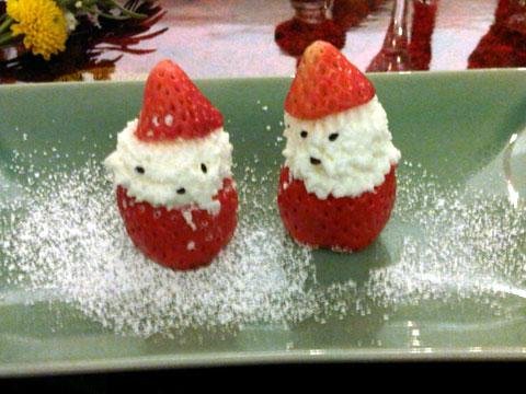 dessert santa claus